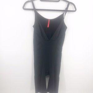Spanx Slimmer & Shine Open-Bust Bodysuit XL Black